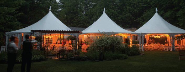 Frame Tent at Dusk