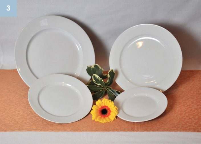 Round Dinner and Salad Plates