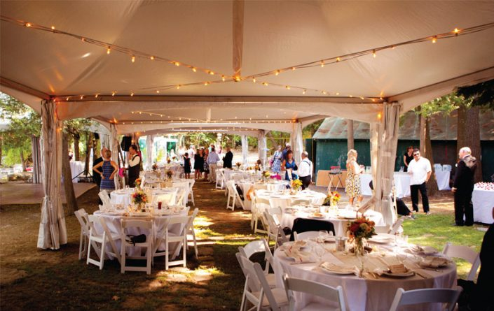 Frame Tent with Strand Lighting