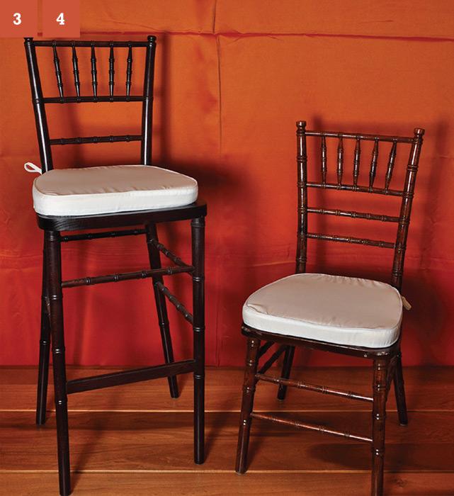 Mahogany Chair and bar stool