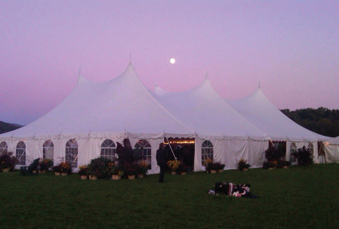 Moon over Wedding Tent