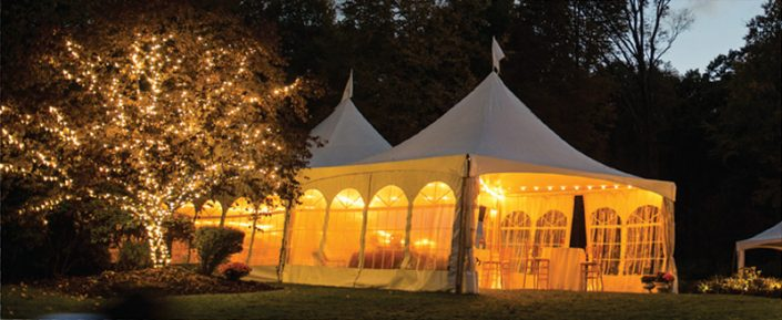 Frame Tent with Strand Light Tree
