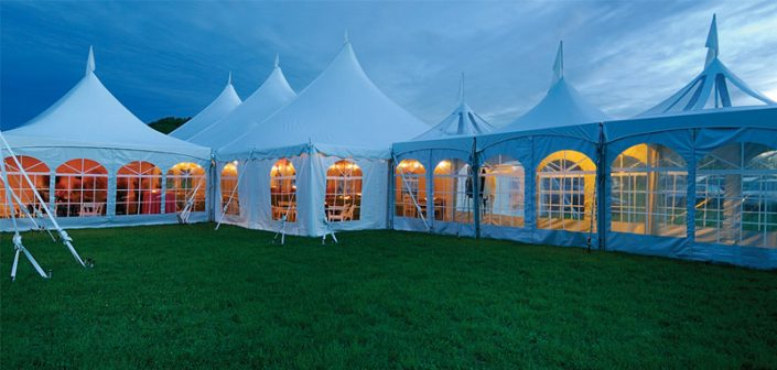 Pole Tent with Clear top and Frame Tent
