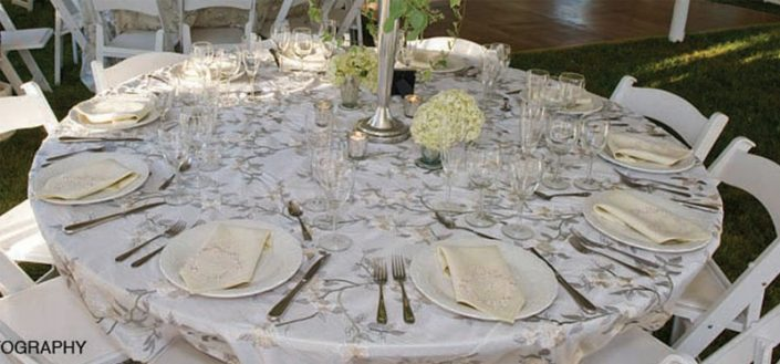 Round Dinner Plates and Flatware